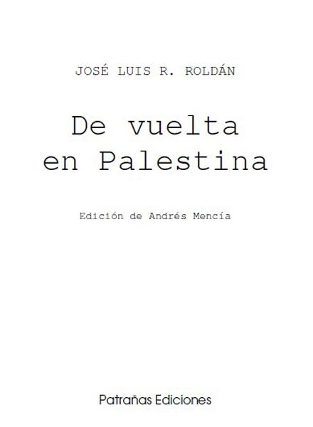 Portada del libro De vuelta en Palestina [Clic para ampliar la imagen]